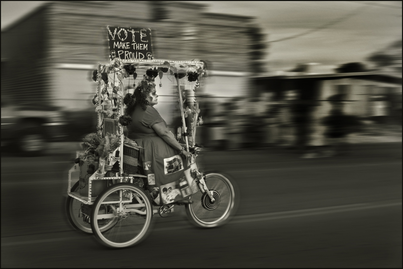Vote! All Souls Procession, Tucson, Arizona, 4 November 2018.
