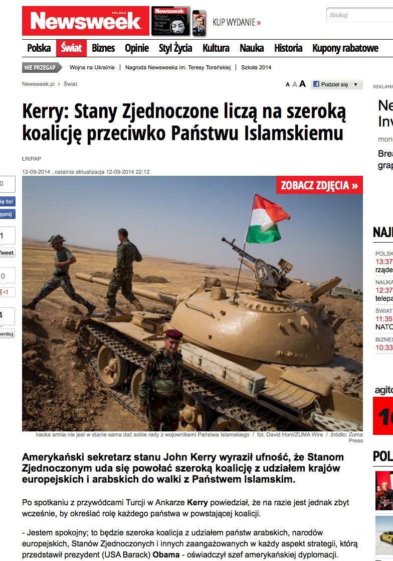 Newsweek Poland Photographed in Mosul, Iraq