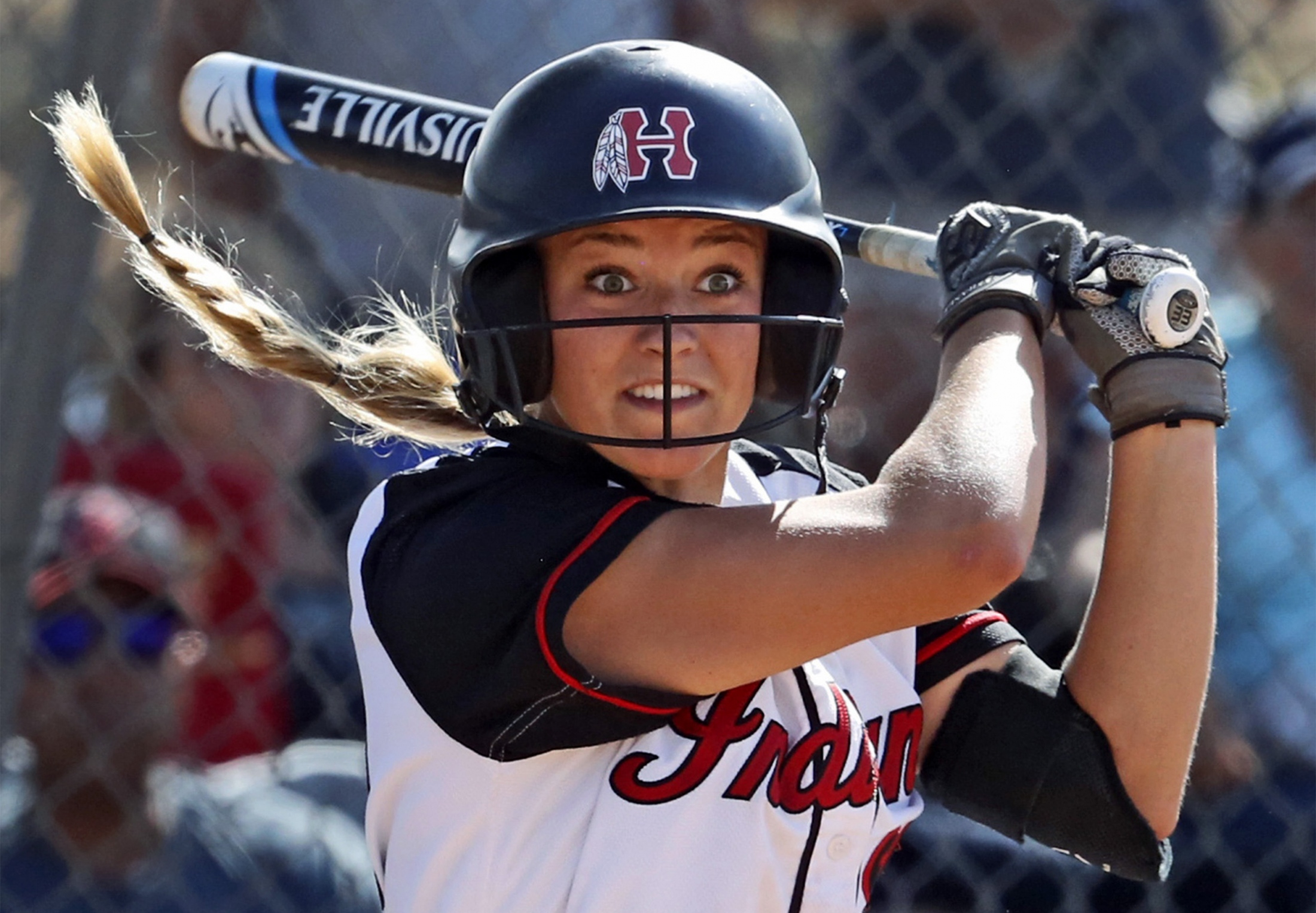 Hart's Abby Sweet (26) swings at bat during a CIF-Southern Section semi final softball game against Ayala High School of Chino Hills on Monday, May 30, 2017. Katharine Lotze/The Signal