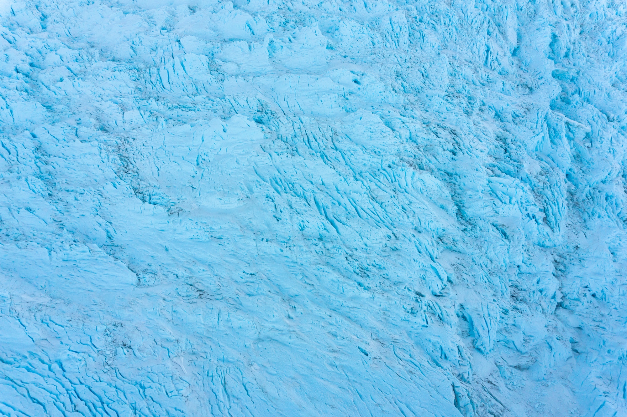 Aerial view of unnamed glacier. December 2017.