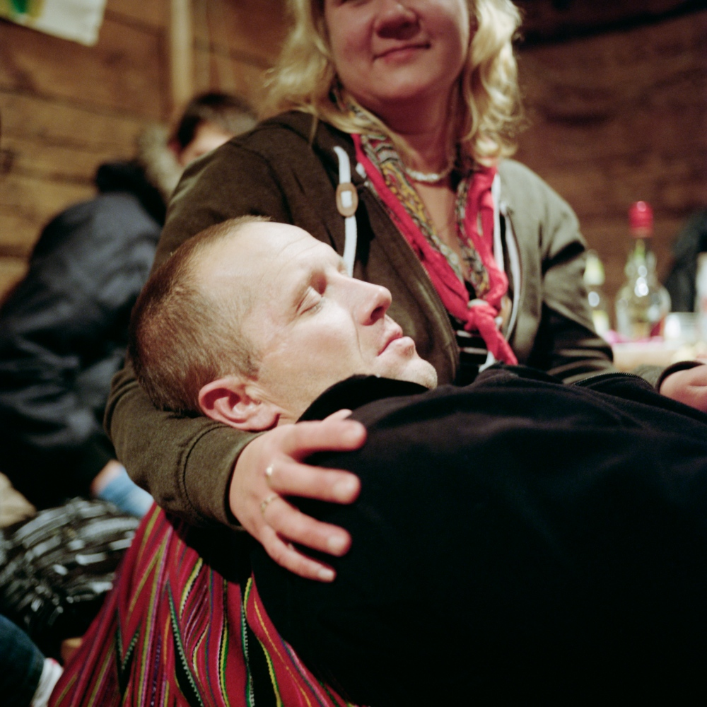 After the celebration of Kadripaëv (Saint Catherin's day). Exhausted, a fisherman dropped in his wife's arm. While her wife was celebrating he was out at sea, fishing. November 2013.