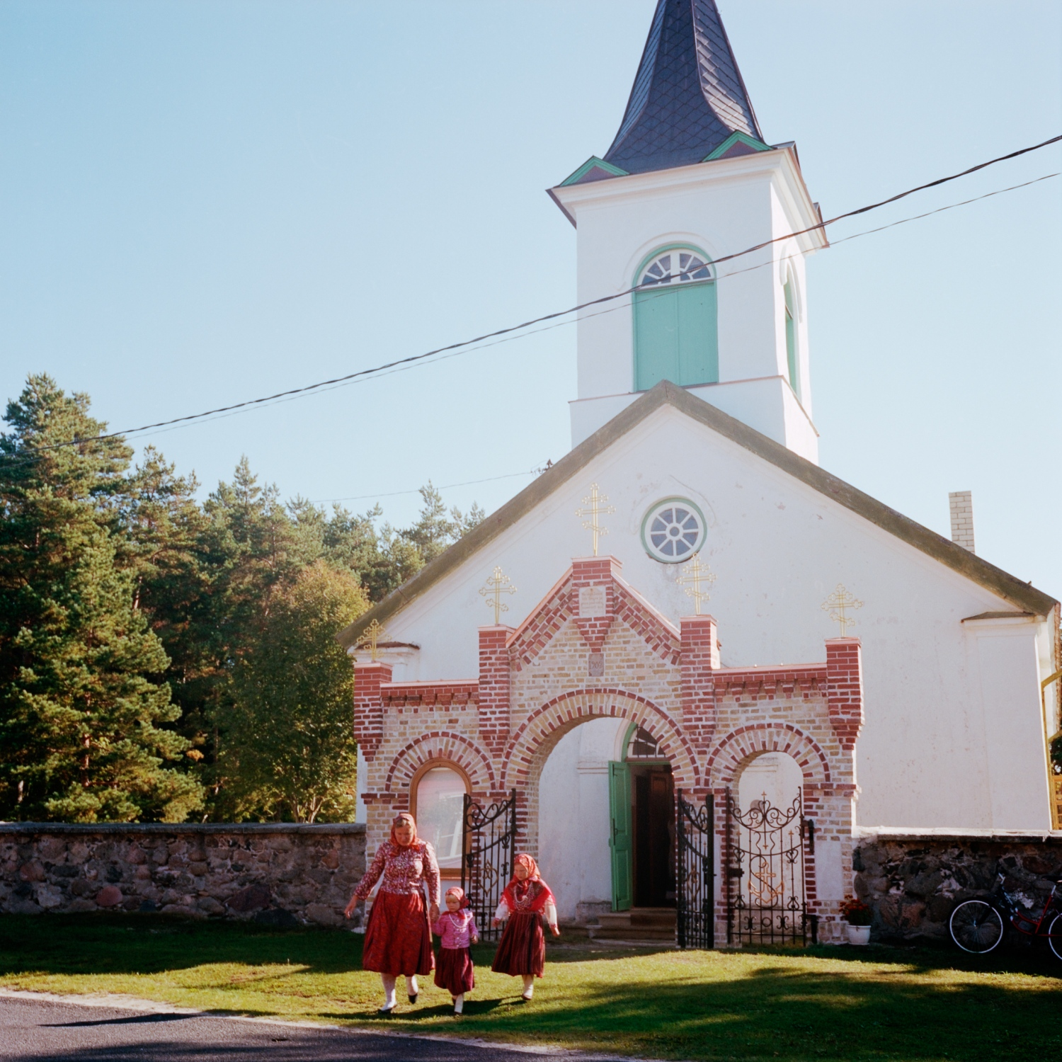 Kihnu orthodox church. In the 19th century almost all of the Kihnu population was converted to the Orthodox Church. In 1860 the Lutheran Church became Orthodox. September 2013.
