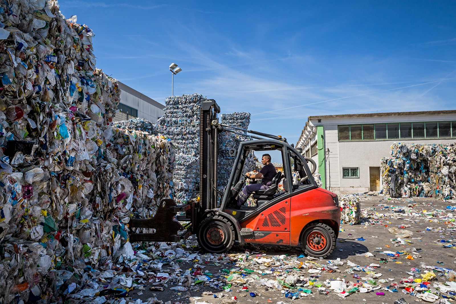 A plastic recycling facility