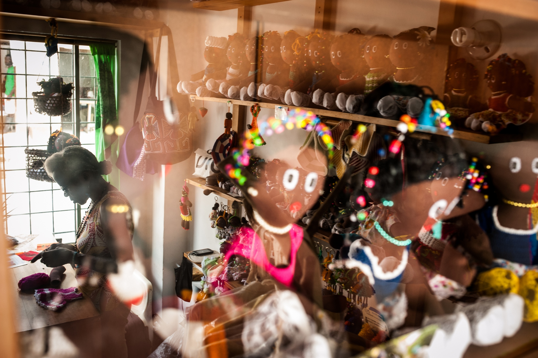 """""""With the support of these dolls, we educate our kids, some have gone to high school but we haven't been able to give them university. We maintain our families with the dolls and we also pay our services with it."""" Luz Romaña Cuesta, originally from Carmen del Darién, now lives in Quibdó and makes Afro-Colombian and Indigenous dolls."""
