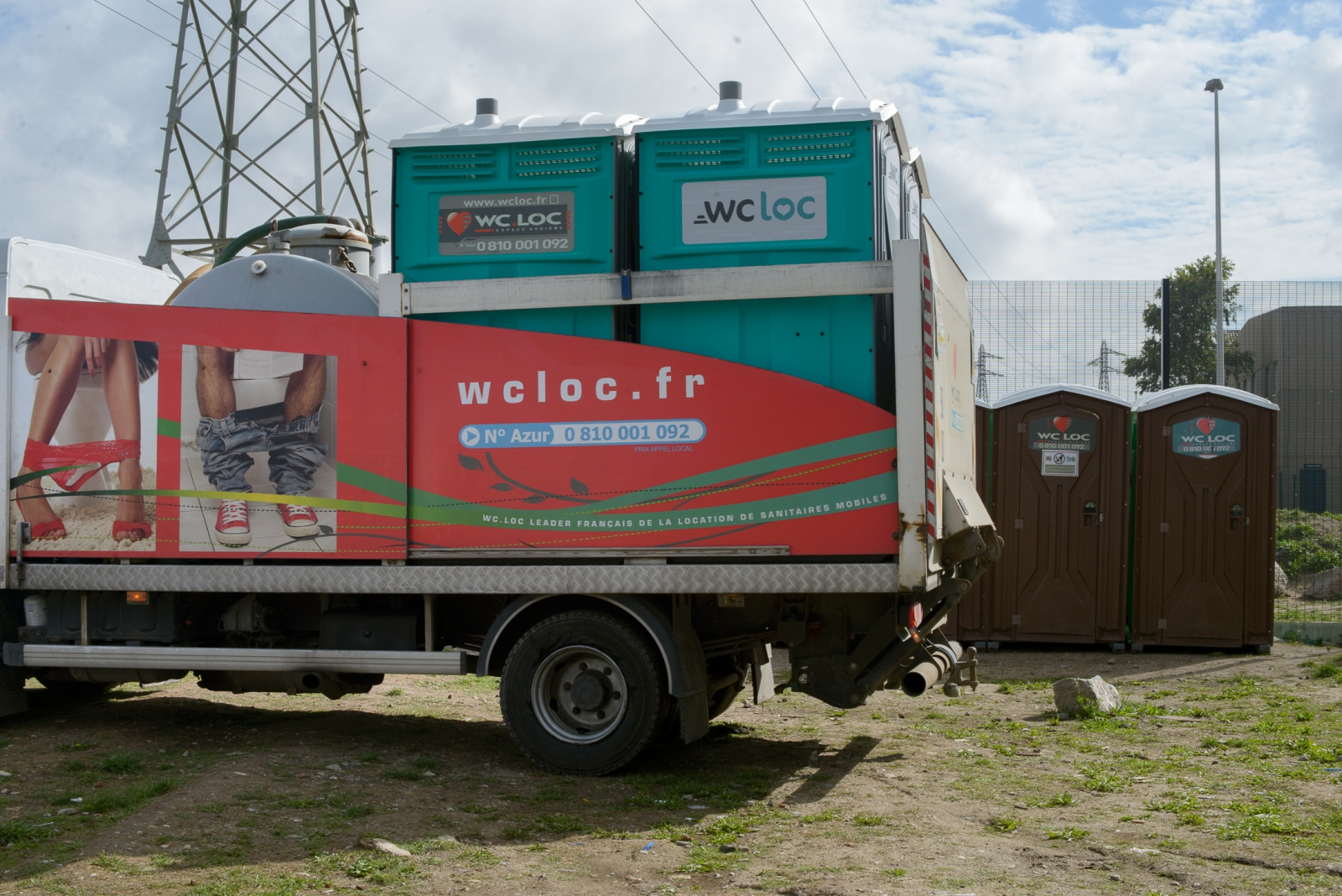 August 19, 2017 - Calais, France. Following a court order of June 26, 2017 obliging the mayor of Calais to provide access to water and other services to exiled people, ten mobile toilets and 20 mobile water points were installed by the regional authorities on August 18, 2017 in one of the larger distribution points. There are a total of permanent 20 mobile toilets for around 1000 people, provided in proximity of two areas where exiled people regroup.