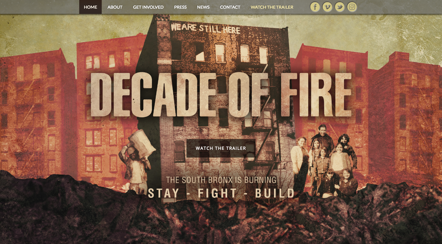DECADE OF FIRE premiered at The School of Visual Arts by Perla de Leon