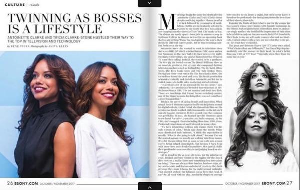 EBONY Magazine Twins, Tricia Clarke Stone & Antoinette Clarke