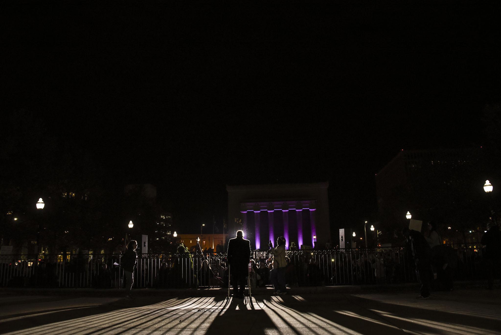 November 2018: Congressman Elijah Cummings addresses a crowd in Baltimore.