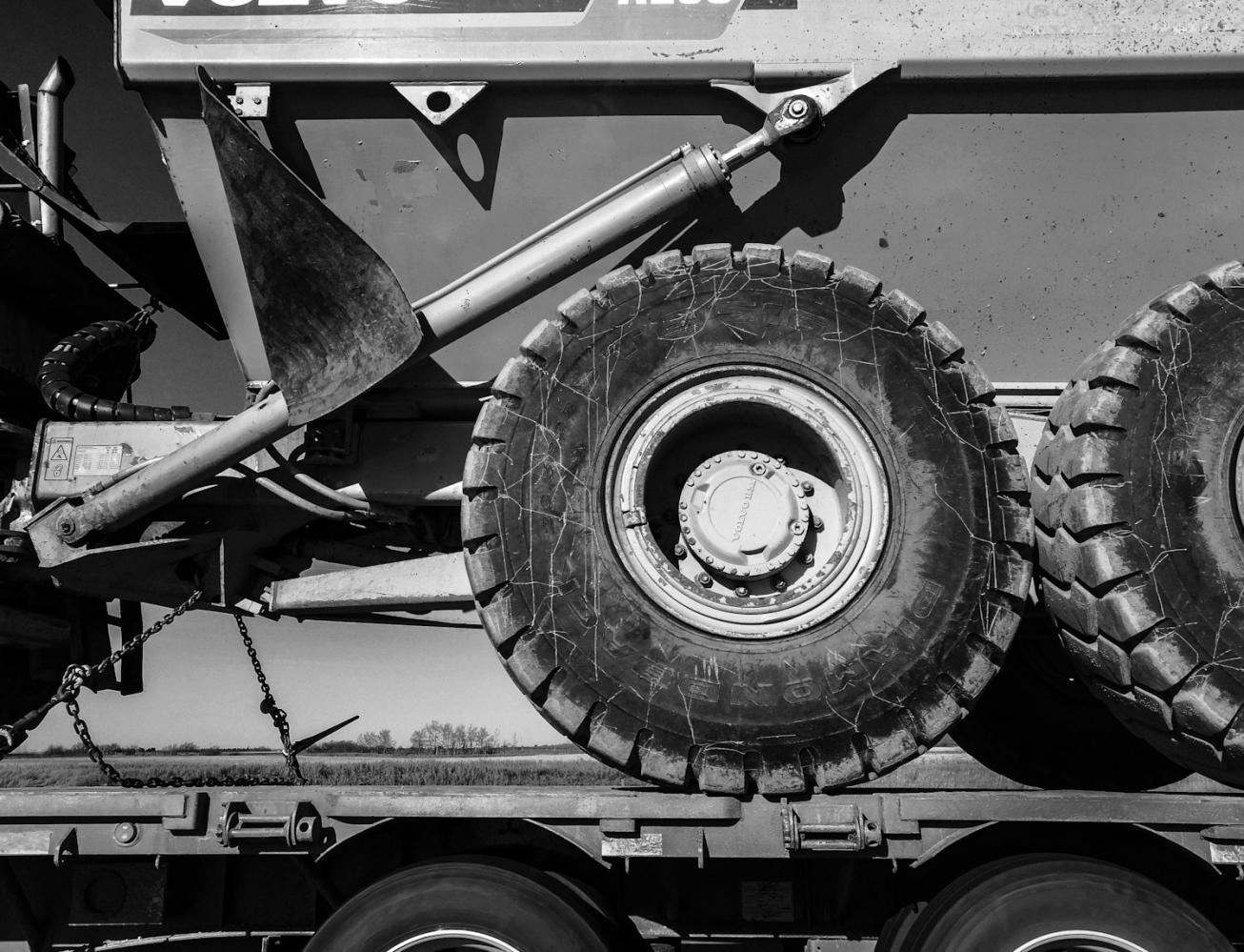 Photography image - Heavy Machinery on The Highway, #2, Saskatchewan 2018