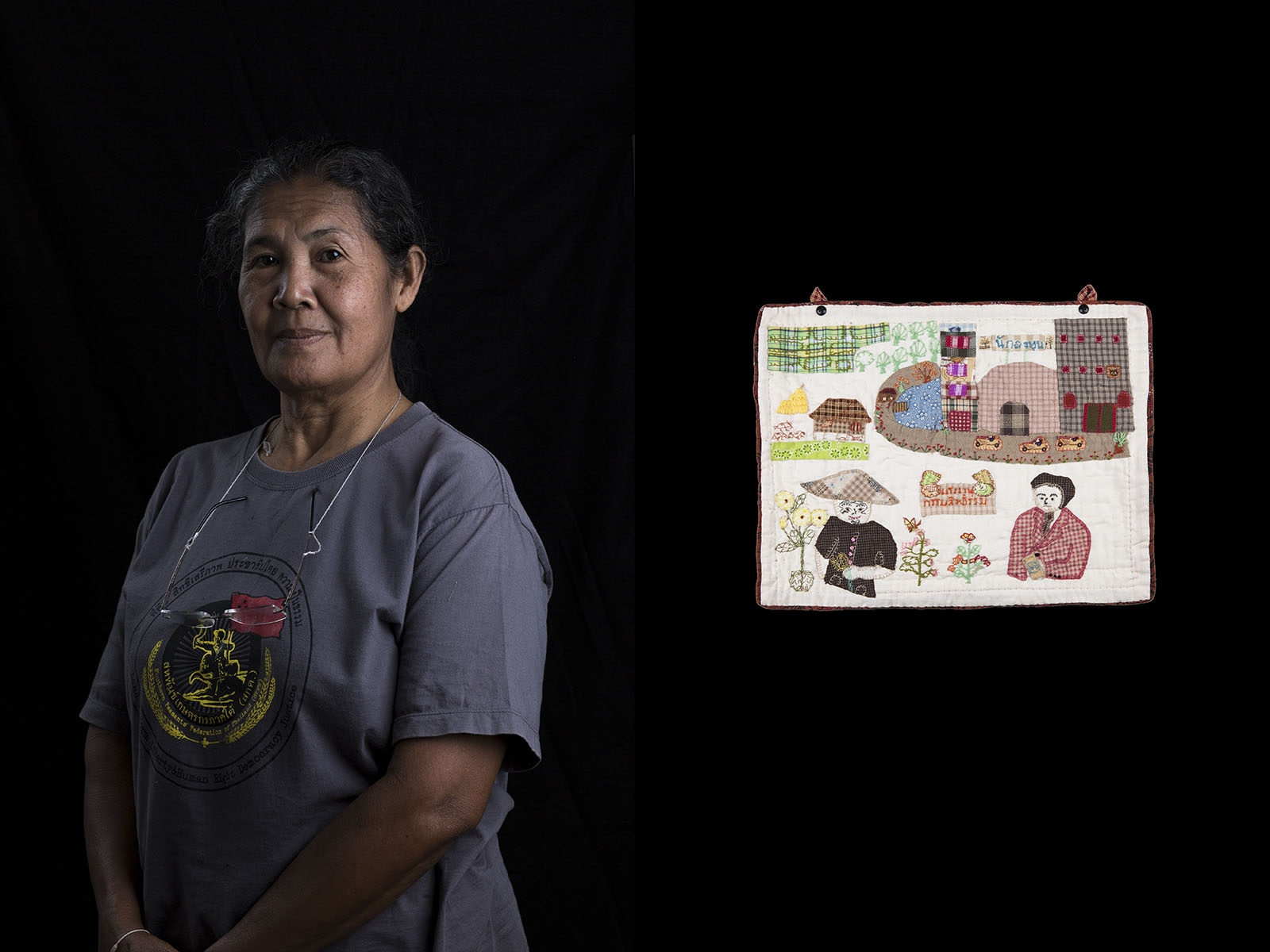 Manee Chaisuwan  is a member of the Southern Peasant Federation of Thailand (SPFT).                          Formed in 2008 but with its roots in a land reform movement that started in the early nineties in the province of Surat Thani, SPFT works on behalf of landless farmers to secure them land with which to farm. It's very being rose from the inability of farmers to count on the Government to act independently or the companies in question to regulate themselves by following the laws.