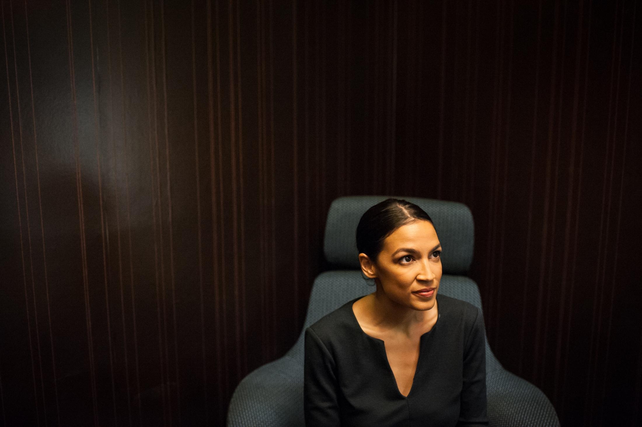 Democratic Socialist congressional candidate (NY-14) Alexandria Ocasio-Cortez. Photographed for CNN.