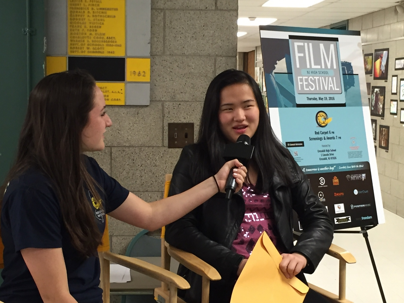 Photography image - Interviewing at the NJ High School Film Festival (2016)