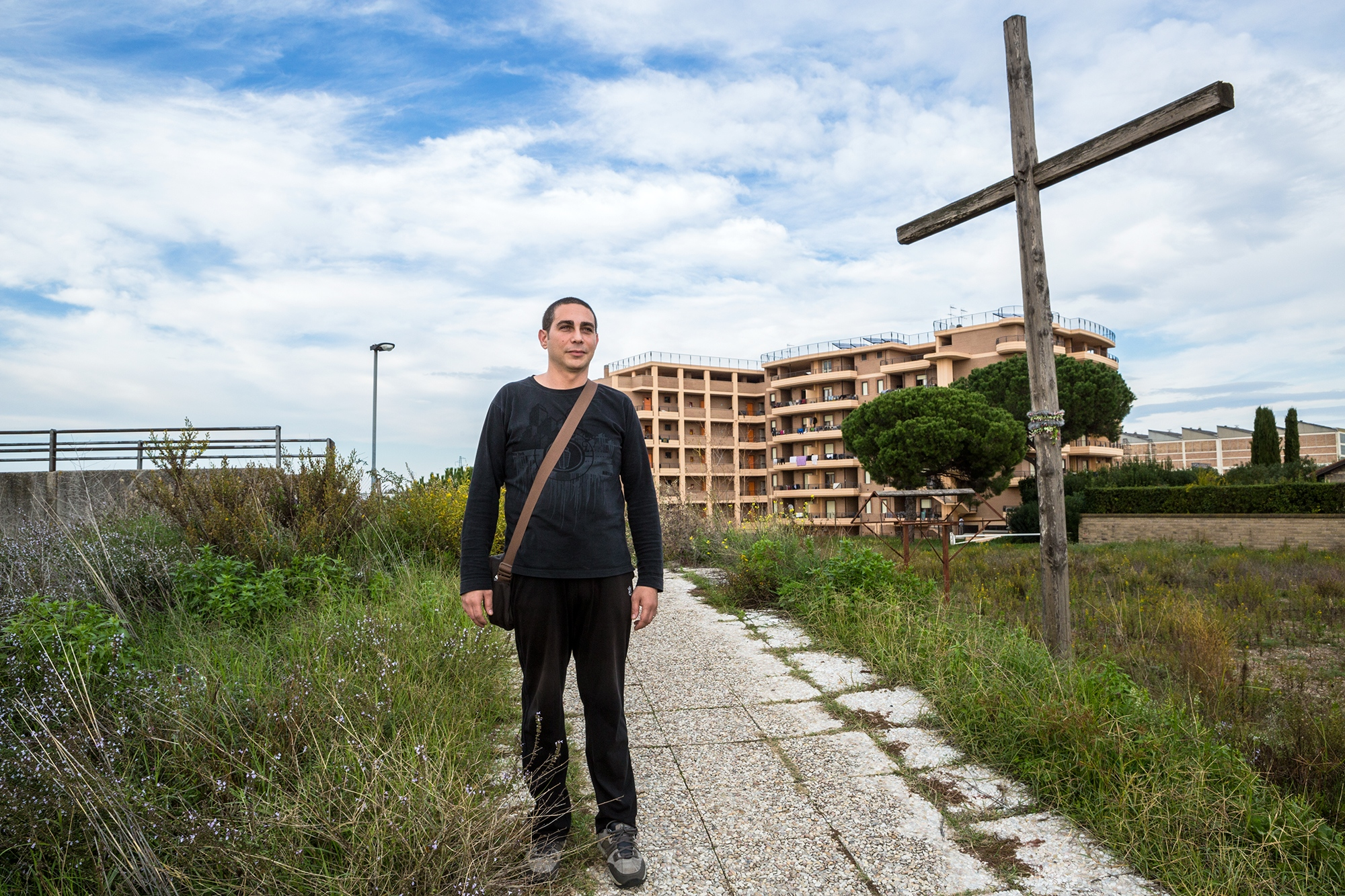 Sergio, a resident of Santa Palomba, commutes every day into Rome metropolitan area, to attend his job