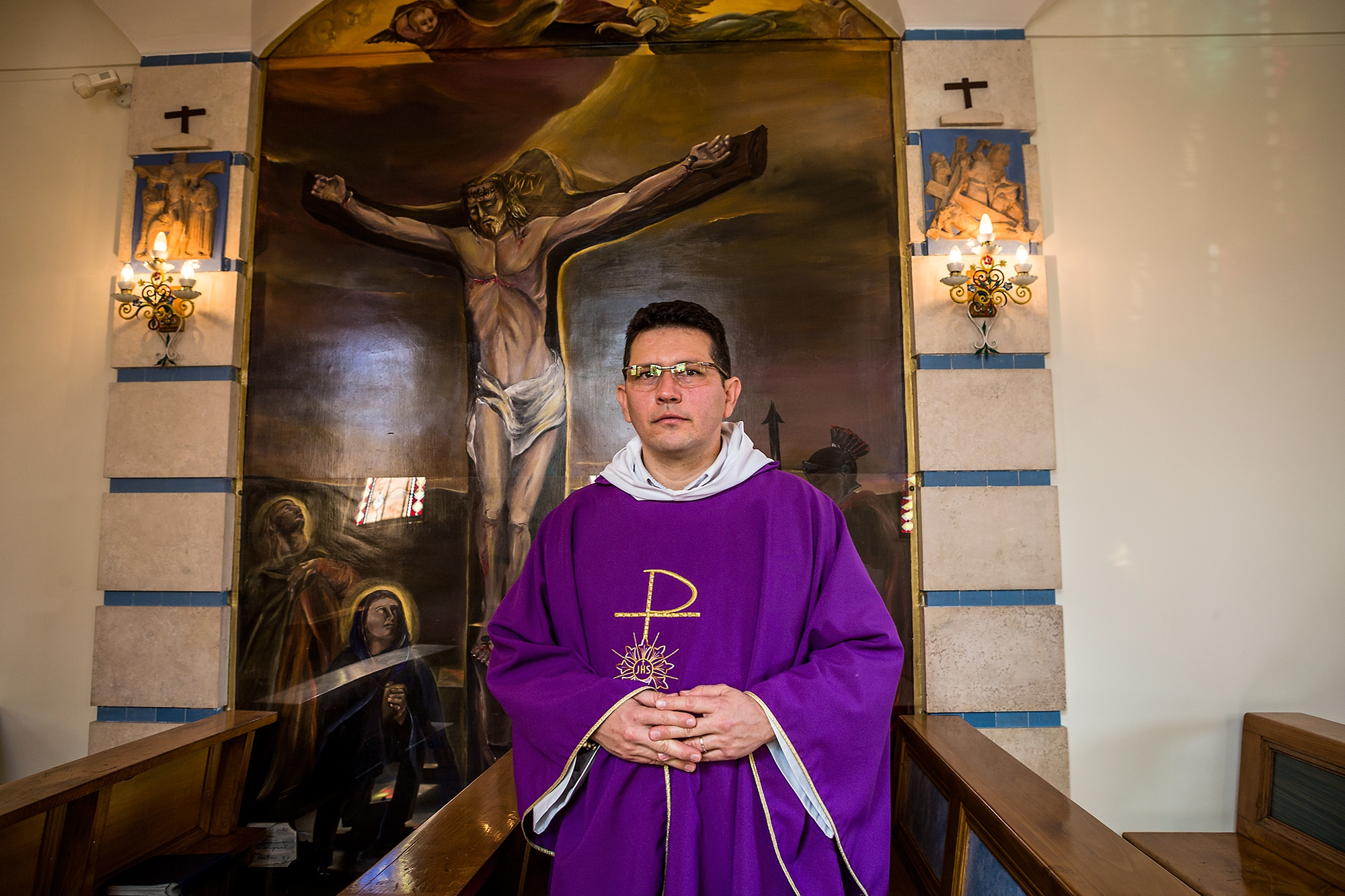 Padre Carlos is the leader of the local church that serves the very few residents of the area
