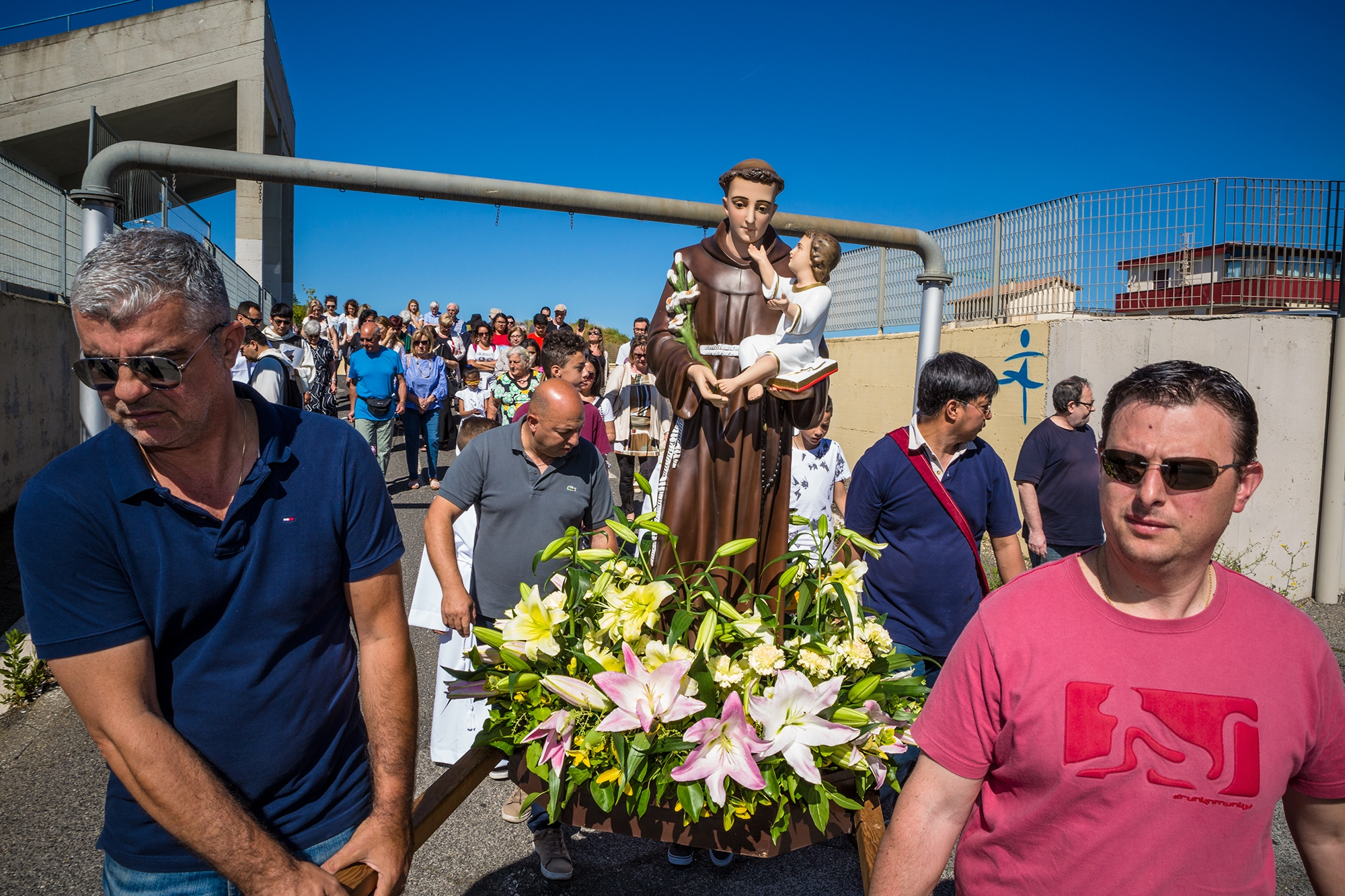 Residents celebrating the annual patron saint day
