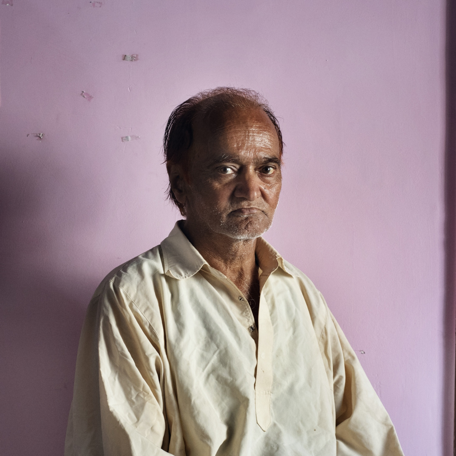 """Abdul Rehman, 64 years old, from Srinagar. """"When i was a child i used to play with girls after schools but when i was going back home my father used to slap me because of it"""", says Rehman. His family was against his behaviour from the very beginning. Only her mother was supportive and that's why both of them were kicked out from home when Rehman was 16 years old. She is now retired from dancing and singing because of her physics condition and struggling to earn some money."""