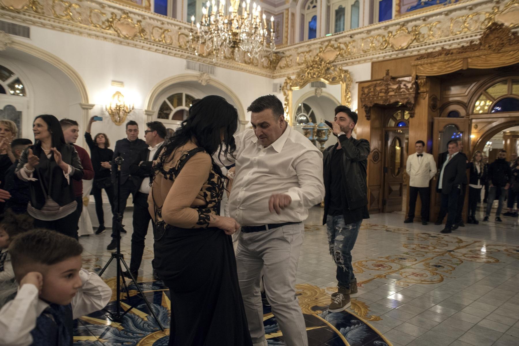 "Guests dancing at ""Gran Hotel La Sonrisa"", Sant'Antonio Abate during the wedding party."