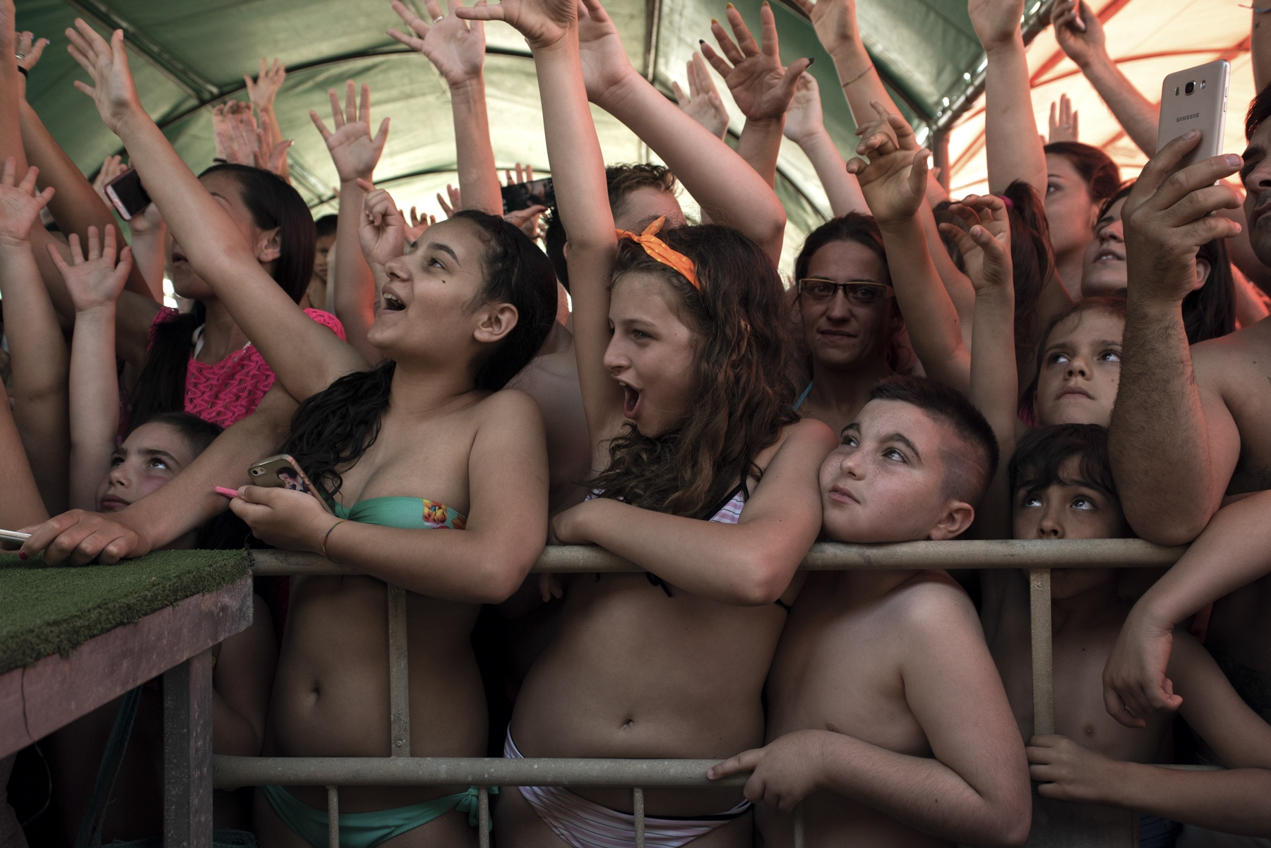 "The enthusiastic audience during Nancy concert at ""Lido La Favorita"", Castel Volturno."