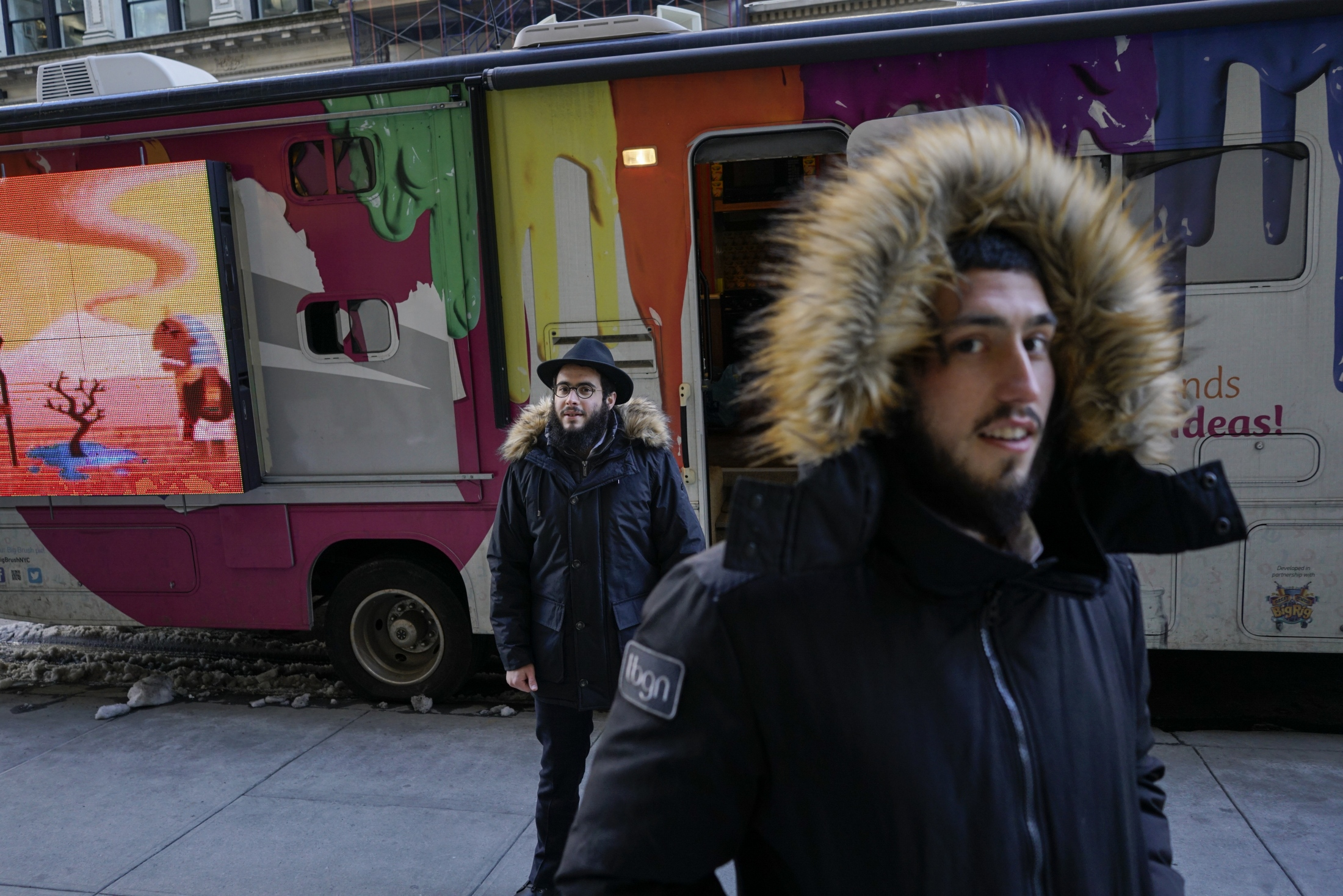 Most of their day is spent in the 'Mitzvah Tank' caravans that park around the city giving people the opportunity to connect with their Jewish faith as a means of getting closer to God.
