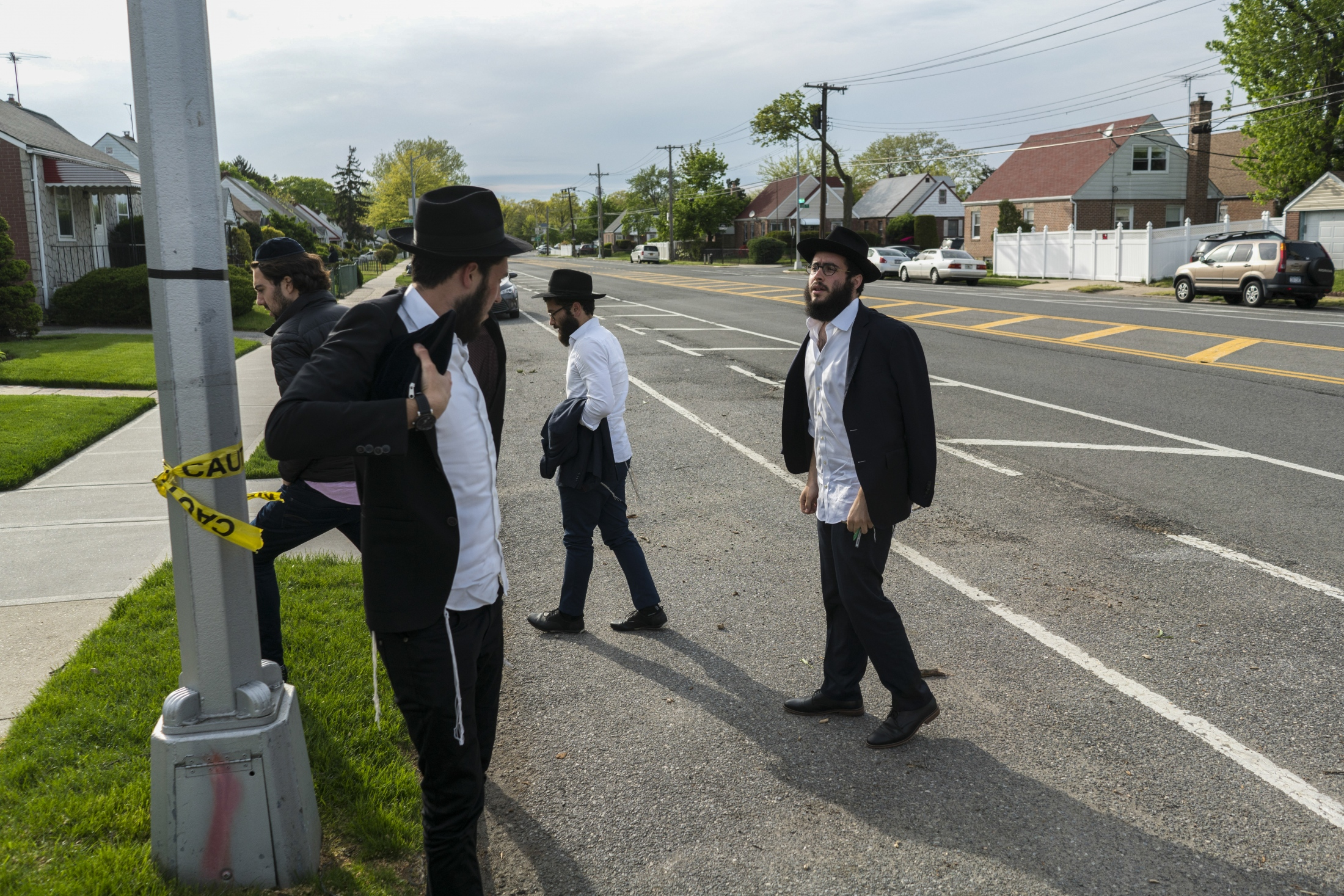 Mendel and his friends visit the Rebbe's tomb biweekly at the Chabad Lubavitch Ohel in Queens.