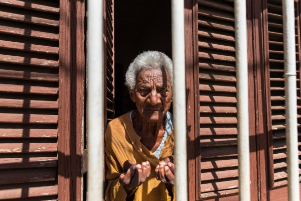 Old woman in Trinidad
