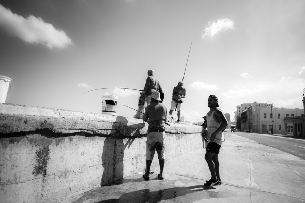 Fishermen of the Malecon, La habana