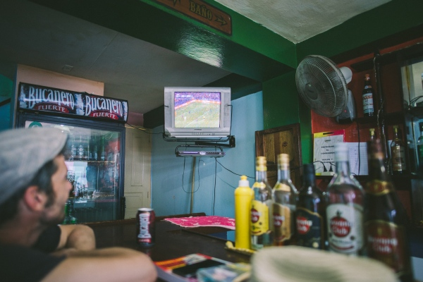 A Champions League match was being broadcast in a bar in Cienfuegos