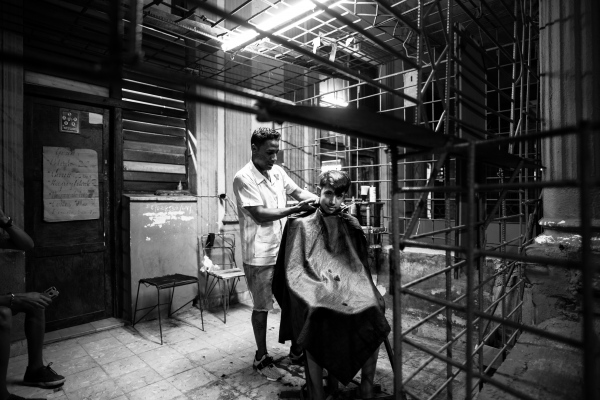 Barber shop in Matanzas