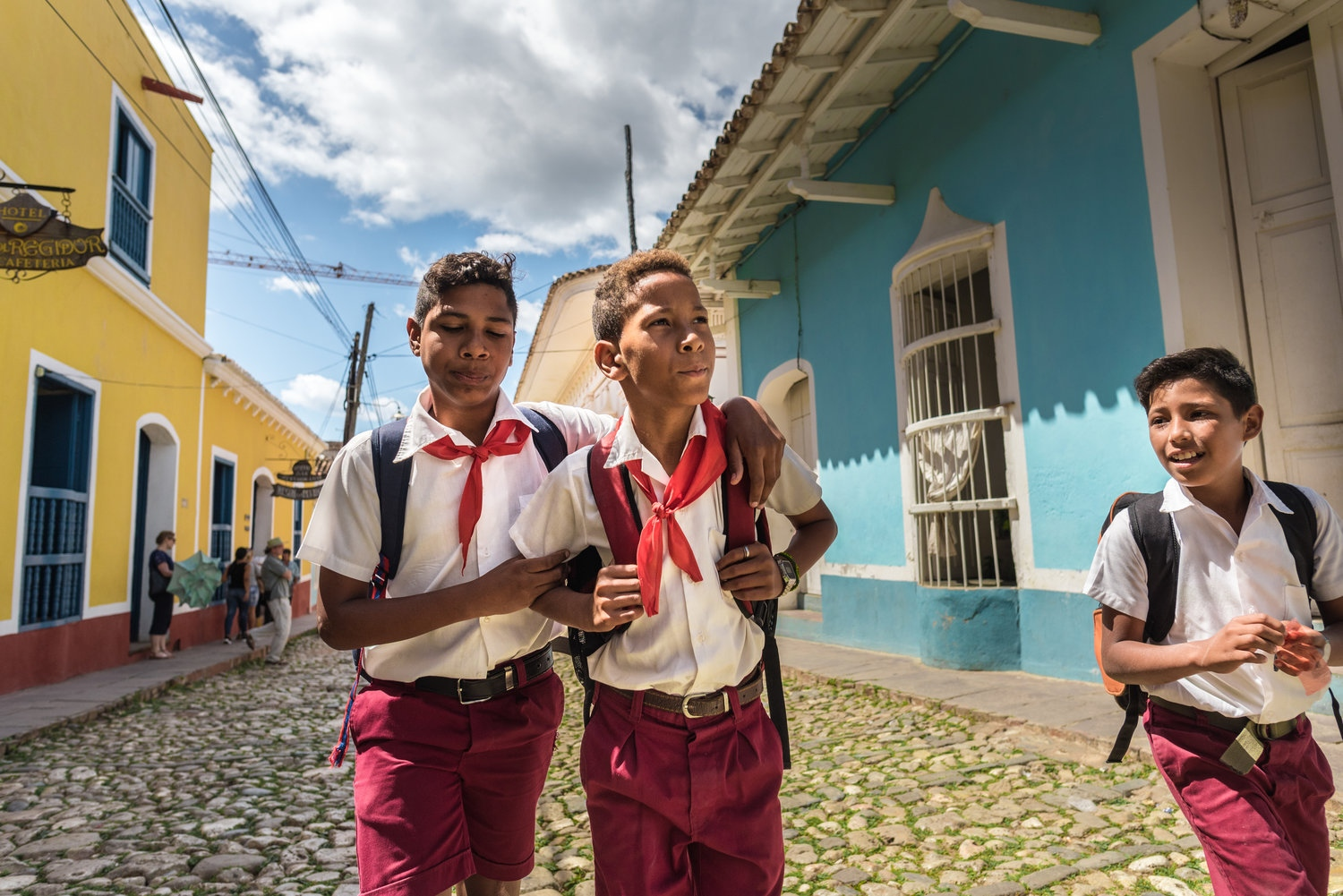 School children in Trinidad Public Education in Cuba  is free and it has been a highly ranked system for many years. The University of Havana was founded in 1727 and there are a number of other well-established colleges and universities. Following the 1959 revolution, the Castro regime nationalized all educational institutions, and created a system operated entirely by the government. Education expenditures continue to receive high priority