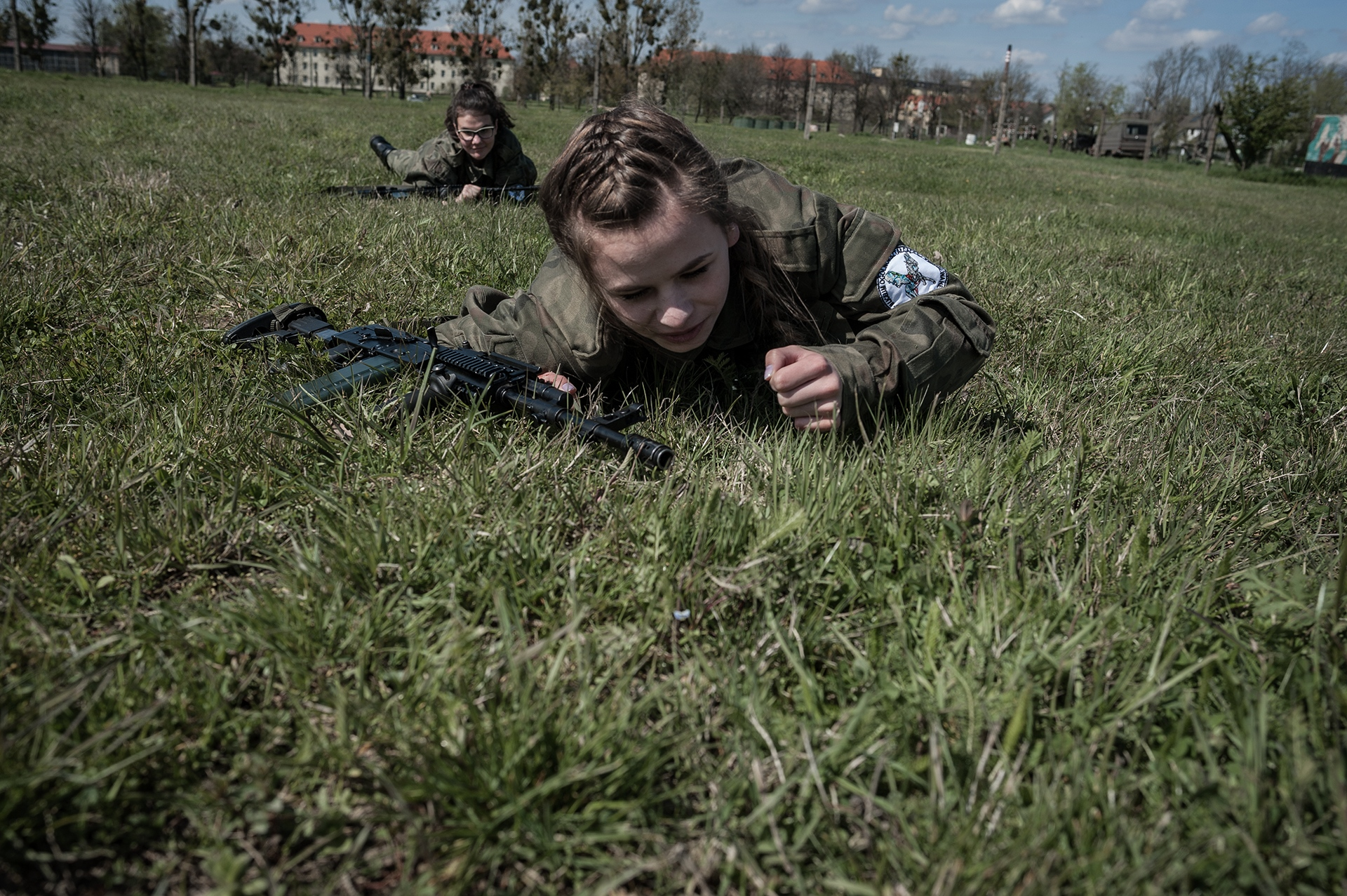 "One student (16 years old) from the II Public High School in Brzeg during practical activities carried out by the Polish Army within the frame of a ""Military Profile Classes"". During those activities students handle real weapons and shoot with real ammunition. Brzeg 2017"