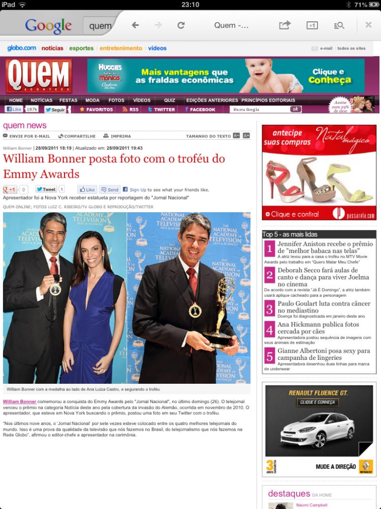 Quem Magazine - Brazil