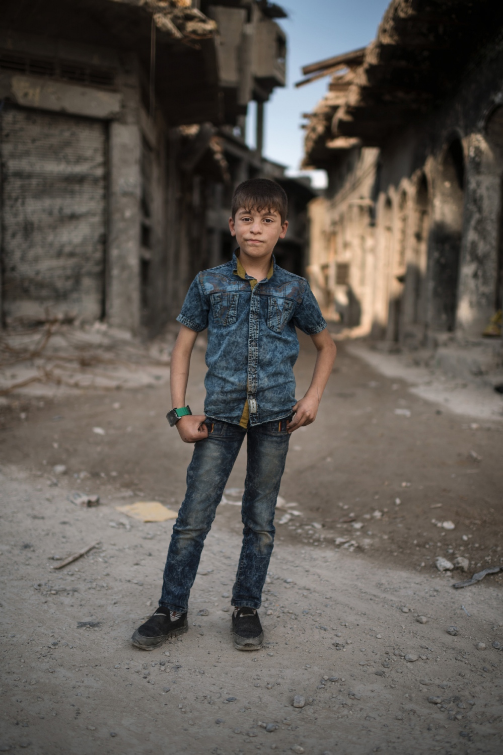 MOSUL 20180414 Mohammed Hareth, 12, lives in the eastern part of Mosul with his father, mother and four siblings. His father is a civil servant ut out of a job right now. What is your favourite thing? My bicycle and my books. What do you like to do in your spare time? Play soccer. What do you hate most of all? Daesh. What do you want do when you grow up? Become self employed. What are your dreams? A house. Why? To live there, I want a bigger house. Photo: Vilhelm Stokstad / Kontinent