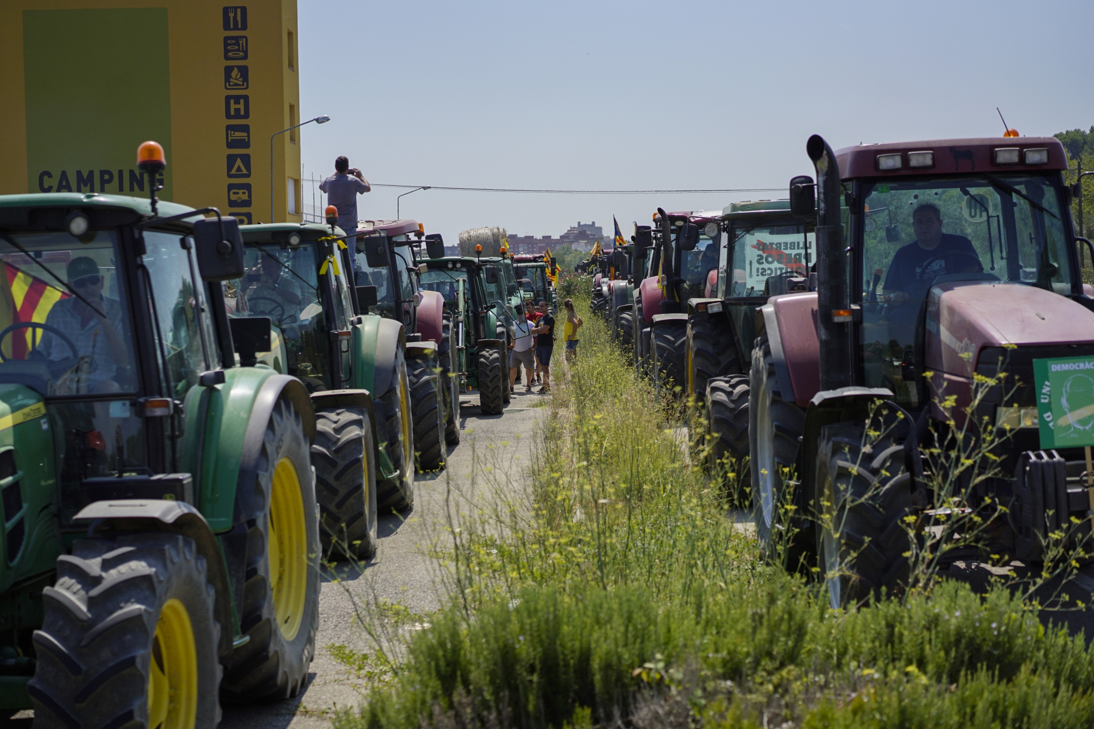 A tractor Caravan organized by the Catalan Farmers Union.