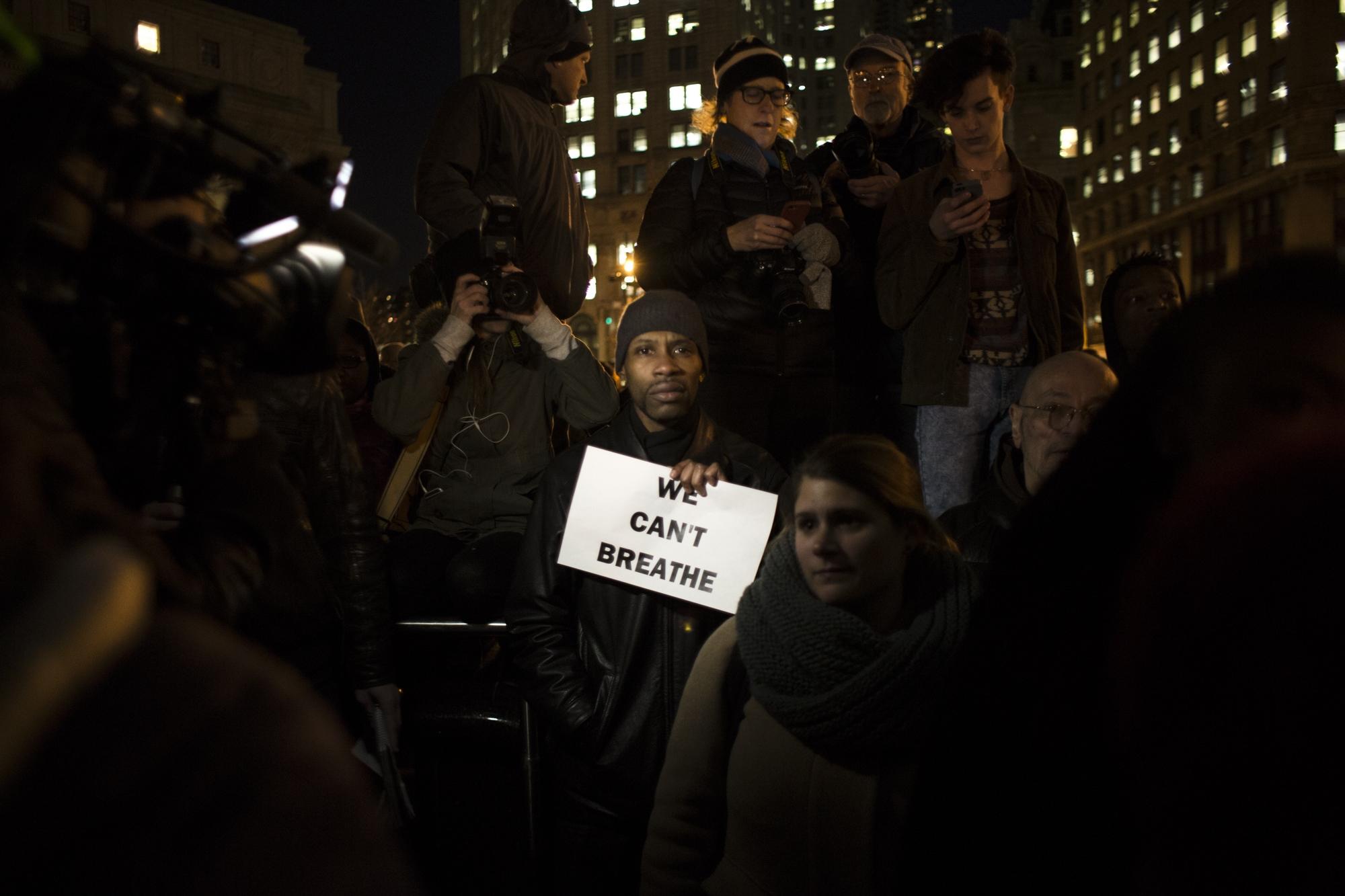 Black Lives Matter protest, New York City, Dec. 4, 2014.