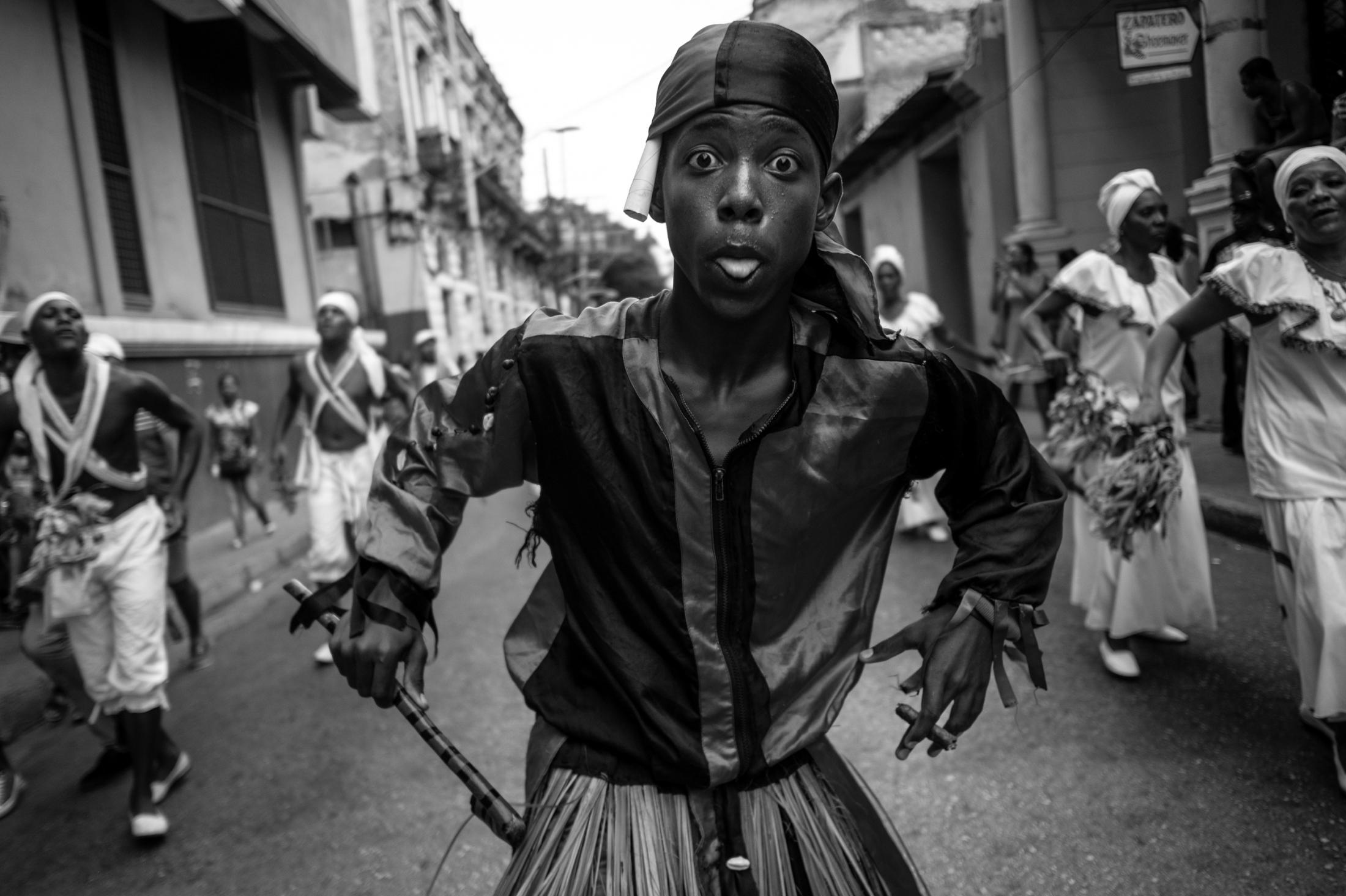 "Folkloric Group ""Bonito Patua"" from Haiti, Festival del Fuego, Santiago de Cuba."