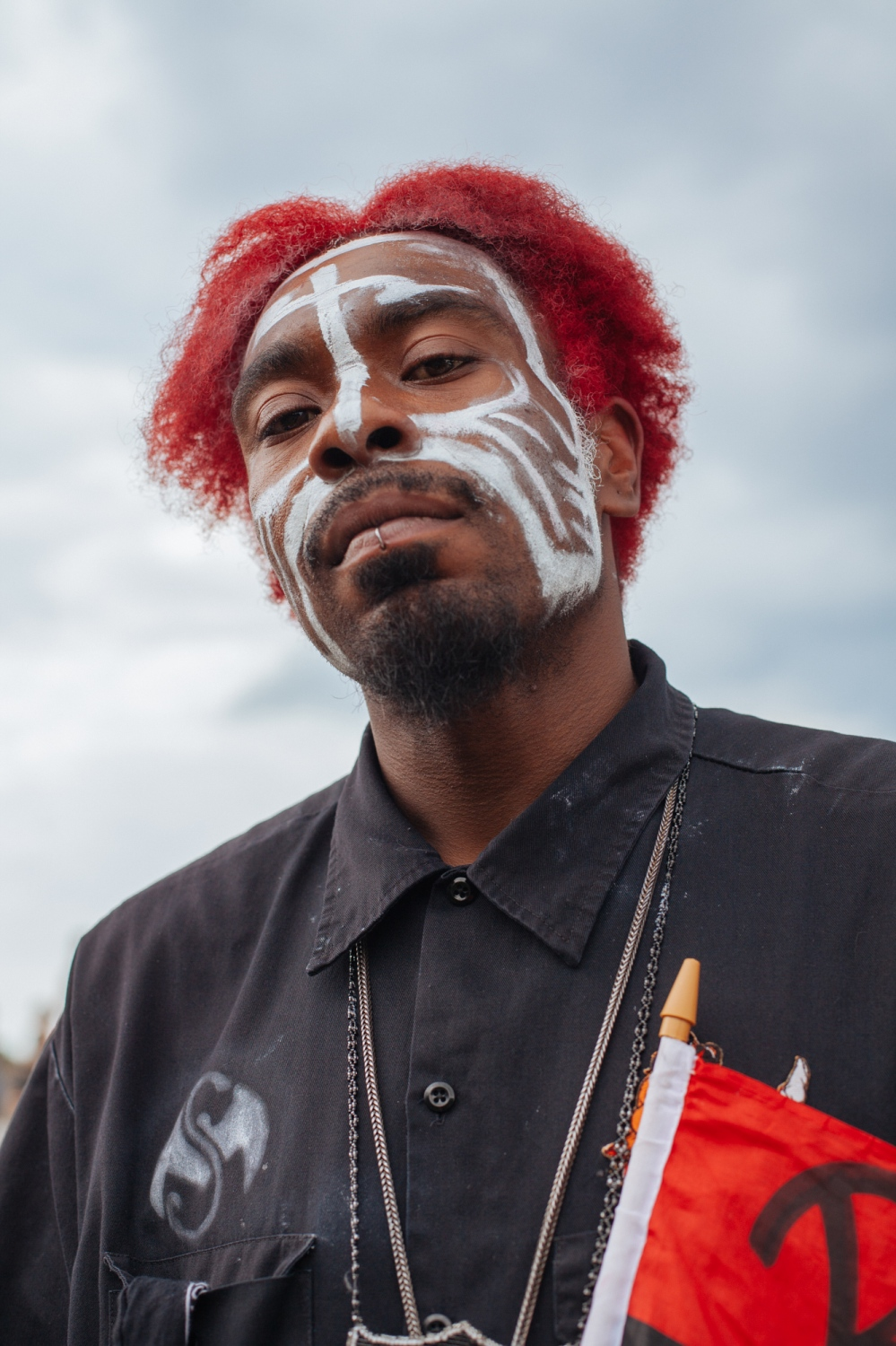 Rich, an Oakland, Californian local and Juggalo, stands tall during the Juggalo March Juggalo March at the National Mall, Washington, D.C., U.S. September 16, 2017.