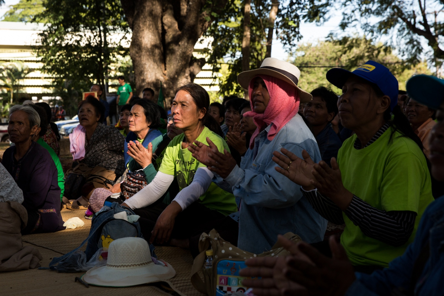 On the last day all protestors gathered at Sakhon Nakhon University to listen to visiting academics and experts in the anti-mining arena.
