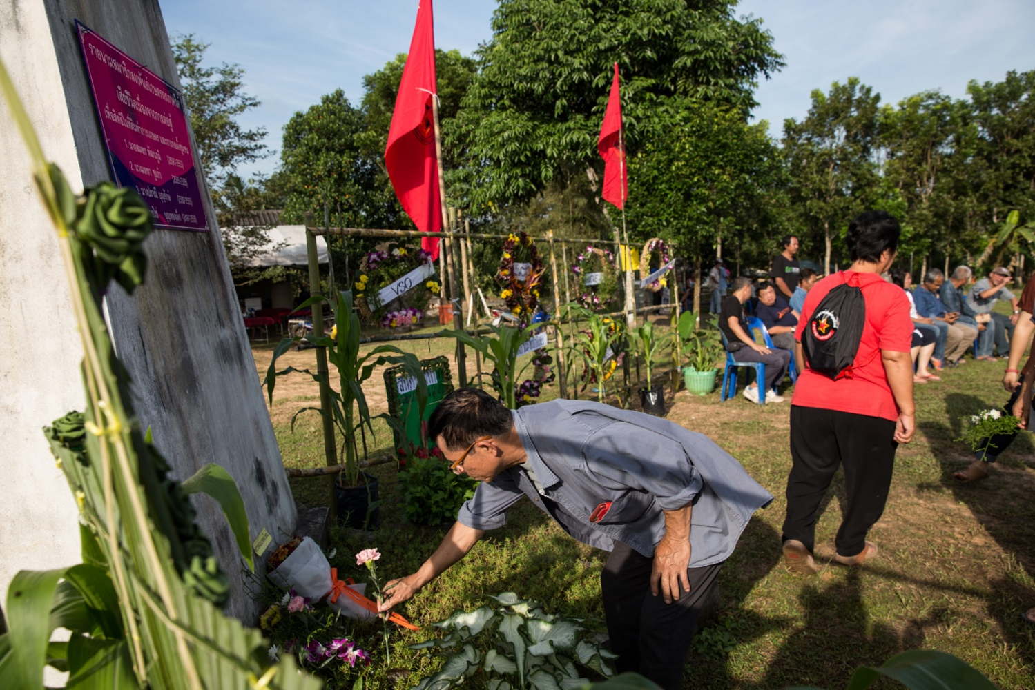 December 2018 marked the 10 year anniversary since the founding of the Southern Peasant's Federation of Thailand (SPFT) and the organisation held a series of events at Klong Sai Pattana village. Guests joined from around the country from some of the largest and oldest Thai rights groups, including the Assembly of the Poor and the Northern Farmers Federation of Thailand joined to pay respect to those who died. December 2018.