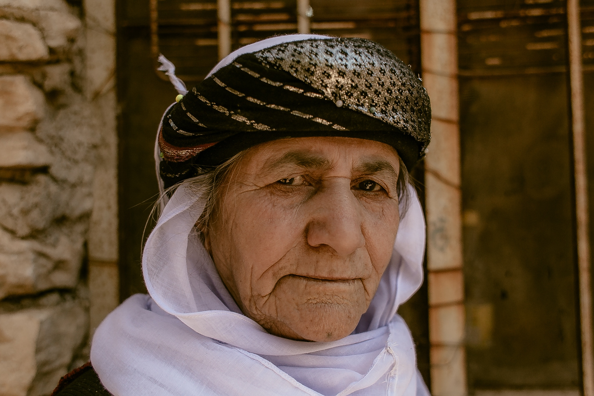 Asmar Asmail, Yazidi's Religious Leader. It is she who does the baptism of every yazidi child and also of the women who need a new baptism after the years of captivity under the Islamic State.