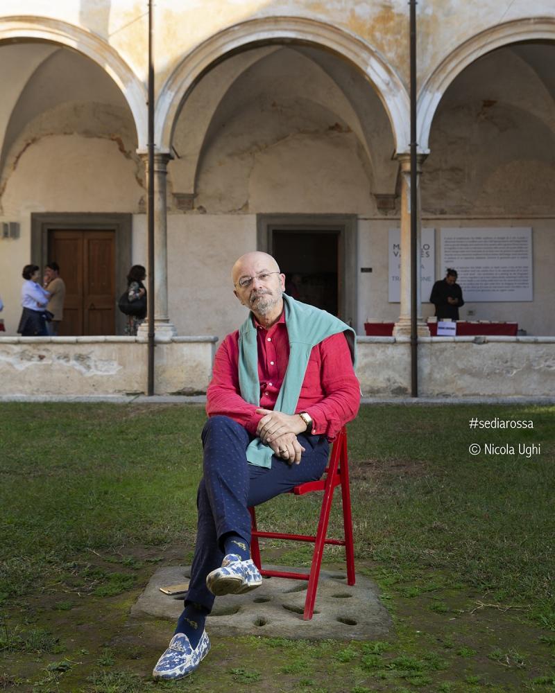 Il giornalista Oscar Giannino, al Libropolis Festival di Pietrasanta.