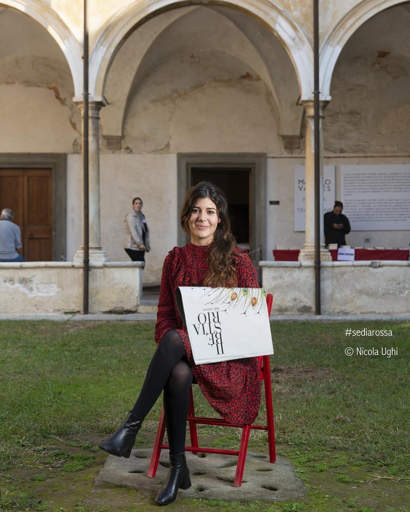 """la splendida Carlotta Correra, de """"il bestiario"""", al Libropolis Festival di Pietrasanta."""