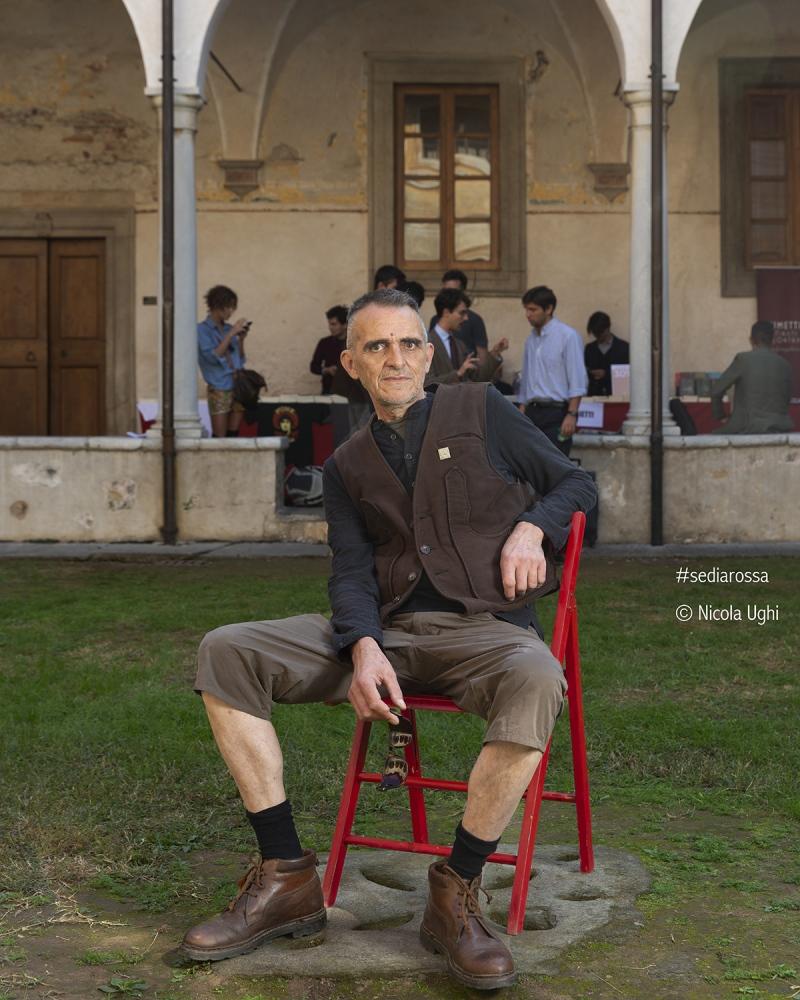 l'ex leader dei CCCP, Giovanni Lindo Ferretti, al Libropolis Festival di Pietrasanta.