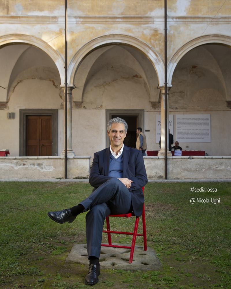 il presidente RAI Marcello Foa, al Libropolis Festival di Pietrasanta.