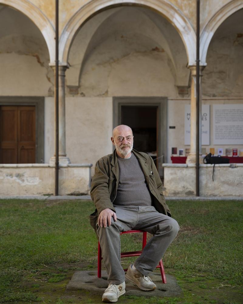 il giornalista Toni Capuozzo, al Libropolis Festival di Pietrasanta.