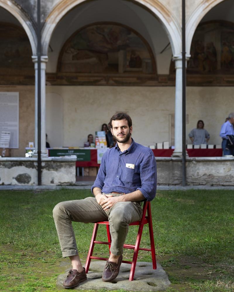 il reporter di guerra Sebastiano Caputo, al Libropolis Festival di Pietrasanta.