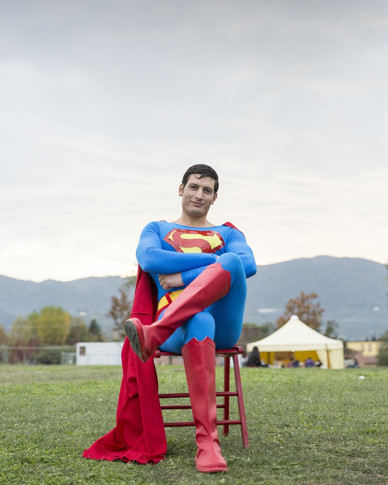 Superman, ritratto a Lucca Comics and Games.