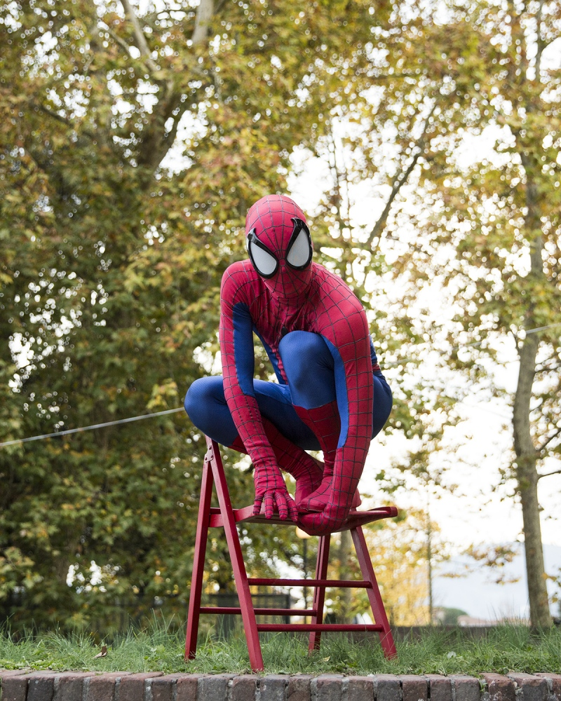 Spiderman, ritratto a Lucca Comics and Games.