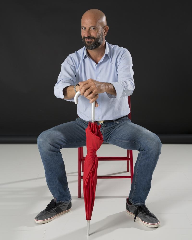 l'amico musicista Tommaso Casigliani, nel mio studio a Lucca.