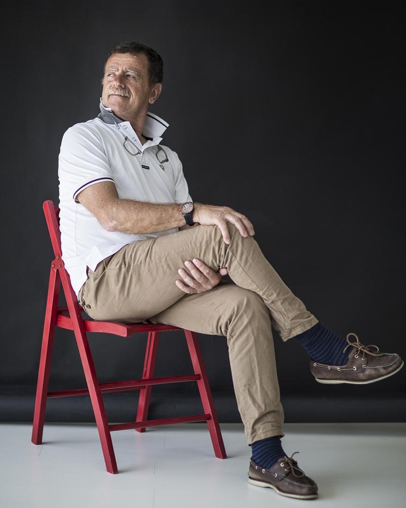 il fotografo Giuliano Sargentini, nel mio studio a Lucca.