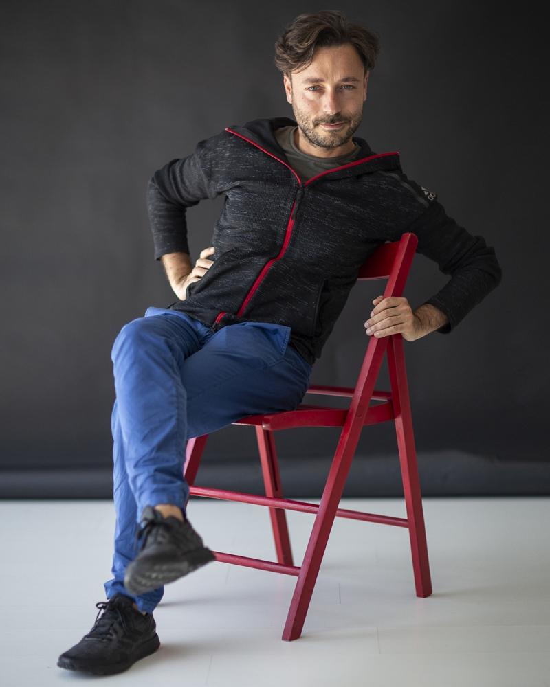 l'amico fotografo Filippo Brancoli Pantera, nel mio studio a Lucca.
